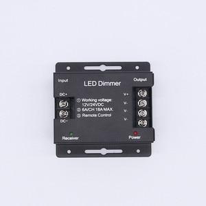 Image 4 - Beilai Dc 12 24V 6A/Ch 3 Kanaals Enkele Kleur Zwart Rf Led Controller Full Touch Afstandsbediening controller Voor Led Strip Licht