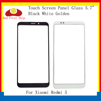 10Pcs/lot Touch Screen For Xiaomi Redmi 5 Touch Panel Front Outer LCD Glass Lens For Redmi 5 Touchscreen Glass Panel Replacement 10pcs lot for xiaomi redmi 6 redmi 6a touch screen digitizer touch panel sensor front outer glass for redmi 6 touch