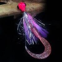 Autoridade e pesca/cabeça de pesca do barco isca macia 17 cm 18 cm bigeye barba velho gabarito gancho com grandes larvas macias|Holofotes| |  -