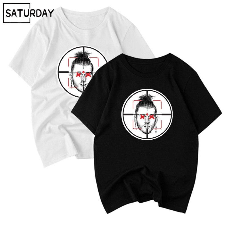 Hot! Men Eminem Diss Mgk Killshot Cotton Black   T  -  shirts   Women Hip Hop Swag Funny   T     Shirts   Unisex Black Cotton Streewear Tops