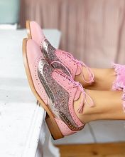 women flats lace-up Sweet style Girl shoes mixed colors round toe  zapatos de mujer shose 2019 w03