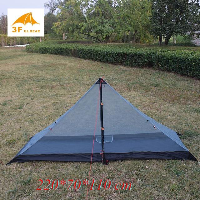 340 grams 3 seasons T doors design strut corner Ultra light  outdoor camping tent fit most pyramid tent