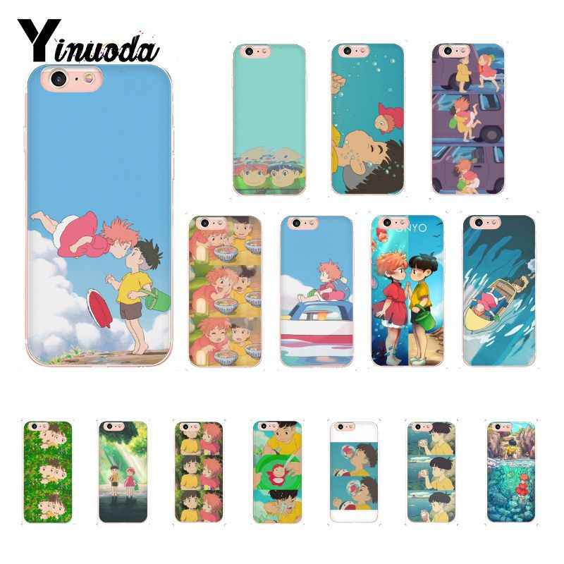 Yinuoda Cartoon Studio Ghibli Ponyo on The Cliff Telefoon Case voor iPhone X XS MAX 6 6S 7 7plus 8 8Plus 5 5S XR 10 Cover