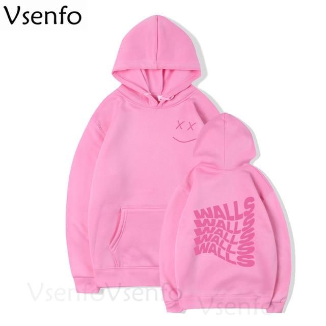 Walls Merch Men's Hoodies Louis Tomlinson Smiley Face Hoodie Harajuku Hoodies 2020 Streetwear Clothes Unisex Winter Coat 4
