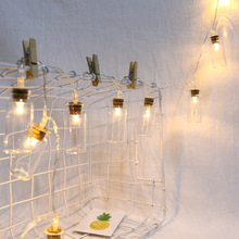 1M 10 Led Clear Glass Wish Bottle Copper Wire LED String Light Garland Fairy Lamp Christmas Garden Party Decoration