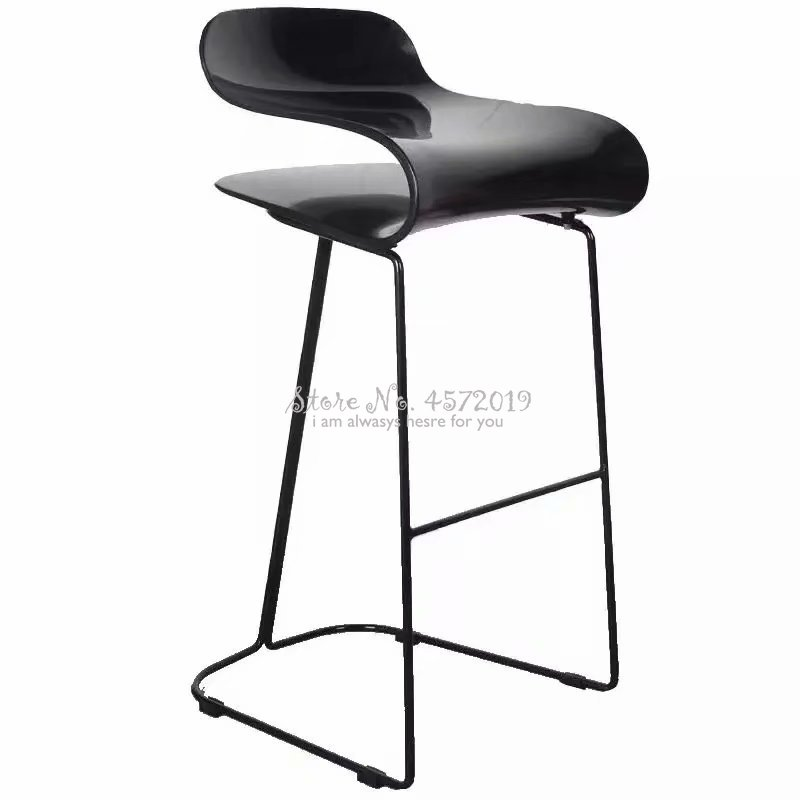 Creative Bar Chair Nordic Modern Minimalist High Stools Wrought Iron Home Bar Chair Bar Front Desk High Chair