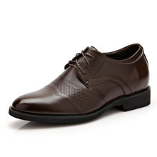 Height Increasing Heeled Leather Casual Shoes Men Invisible Heel Man Wedding Shoes New Fashion Formal Oxfords