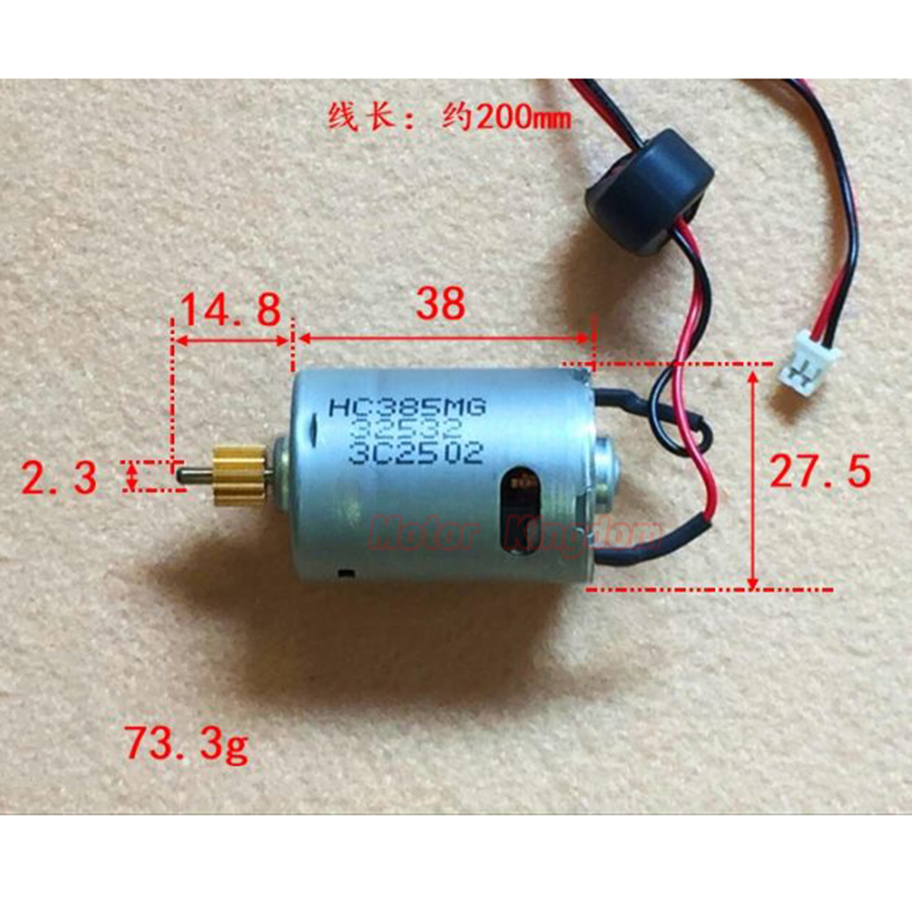 JOHNSON RS-385 HC385MG DC Motor 3V-12V 28700RPM High Speed Power Large Torque Carbon Brush Engine DIY Toy