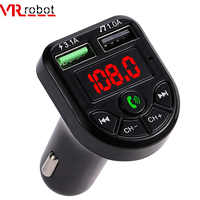VR robot FM Transmitter Bluetooth Car MP3 Audio Player Handsfree Car Kit 5V 3.1A Dual USB Charger 12-24V TF U Disk Music Player