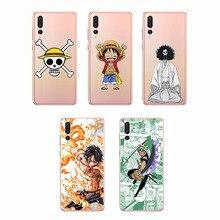 цена на Silicone Soft  ONE PIECE Phone Case Japanese Anime Luffy Zoro Coque for Huawei P smart P30 P20 P10 Pro Lite P8 P9 Lite