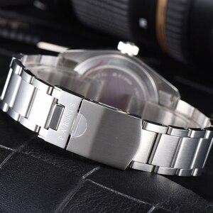 Image 5 - Parnis relógio masculino de pulso, 41mm, miyota, movimento mecânico automático, aço inoxidável, luminoso, marca de luxo, sapphire, cristal, relógio de pulso, homens