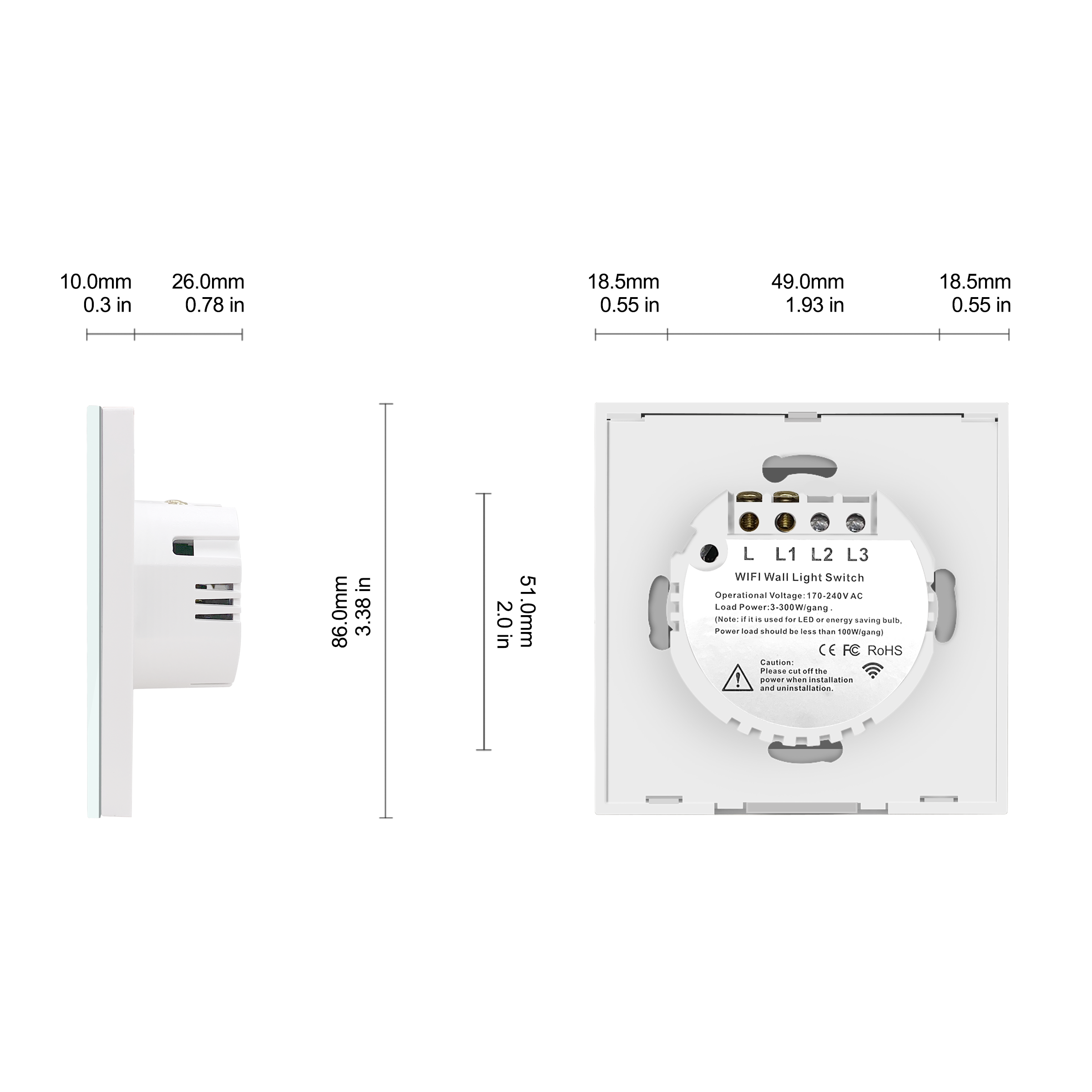 Image 5 - Wifi Wall Touch Switch EU No Neutral Wire Required Smart Light Switch Tuya RF433 Smart Home Controller Support Alexa Google HomeHome Automation Modules   -