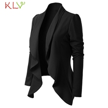 Women Solid Blazers 2019 Cardigan Coat Long Sleeve blazers and jackets