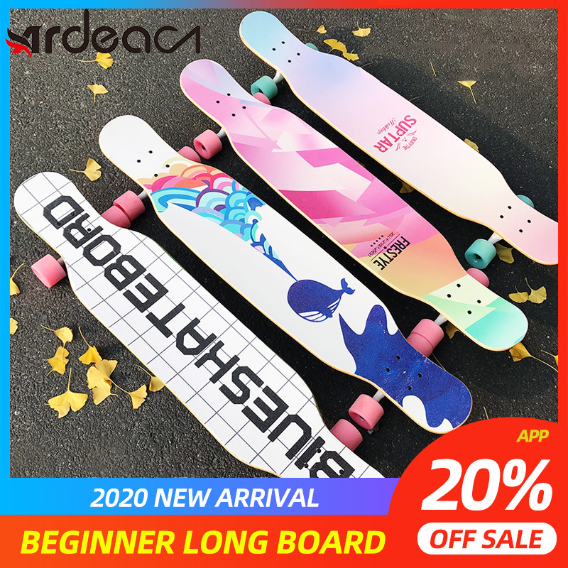 ARDEA Long Board Dancing Russia Maple Skateboard Deck Longboard Trucks Boy And Girl Beginner Skate Board Personalized Custom