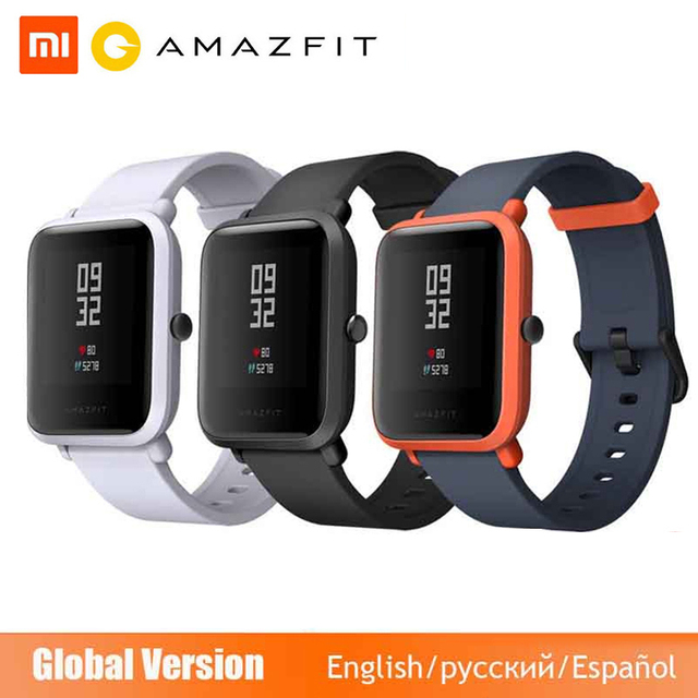 Global Version Huami Amazfit Bip Smart Watch GPS Gloness Smartwatch Smart watch Watchs 45 Days Standby for Phone MI8 IOS