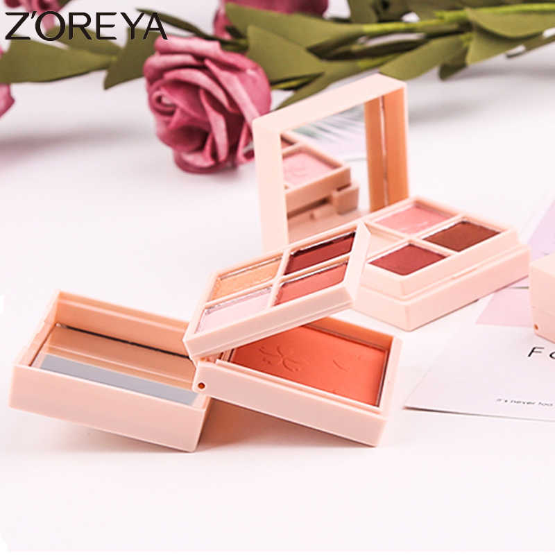 Zoreya 5 Colori Cute Glitter Ombretto Blush, Fard Tavolozza Shimmer Diamante Impermeabile Ombre Tavolozze Make Up Ombretto Cosmetico Matte