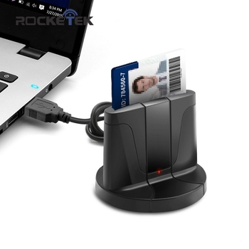 Rocketek USB 2.0 smart Card Reader memory for ID Bank EMV electronic DNIE dni citizen sim cloner connector adapter computer PC