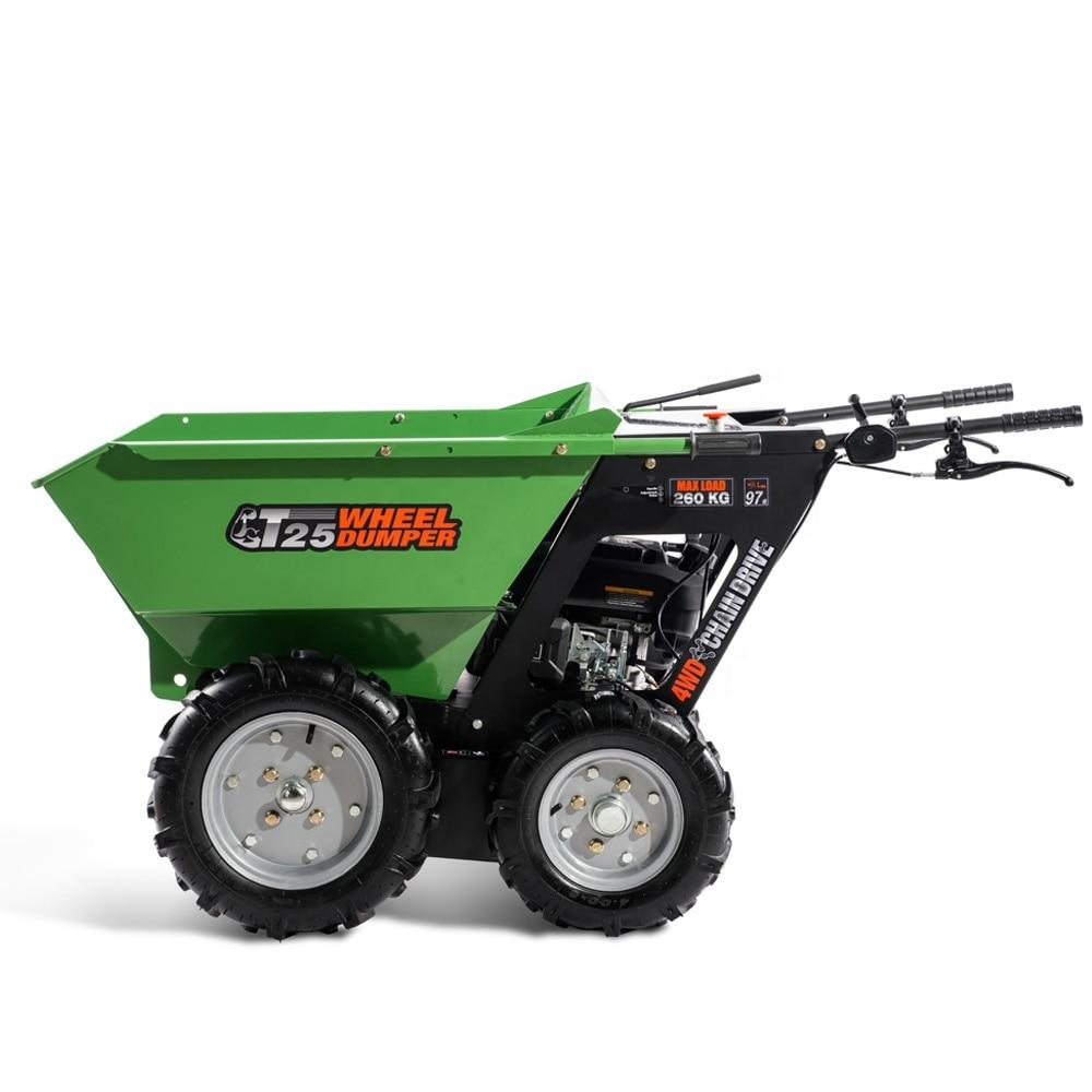 Payload 250KG 5.5hp Loncin/B&S/Kohler/Honda Engine Self-powered Wheel Barrow Wheelbarrow For Fruit Ranch