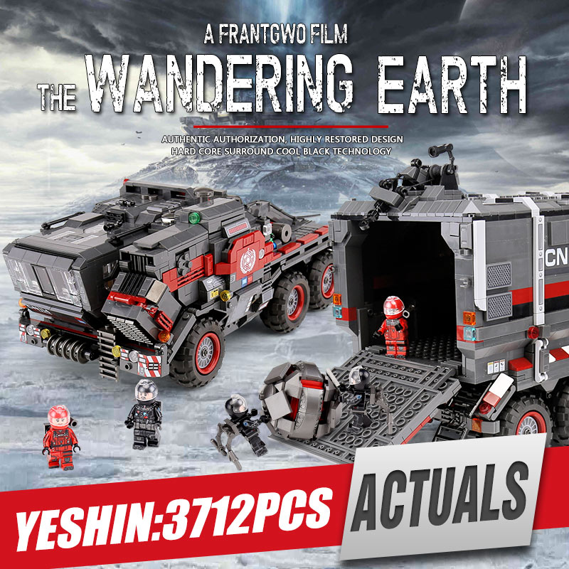 DHL Yeshin スターのおもちゃ · 中国放浪地球輸送貨物トラックキャリアセットビルディングブロックレンガ子供のおもちゃのギフト  グループ上の おもちゃ & ホビー からの ブロック の中 1