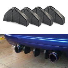 universal 10 pcs 3d shark fin jet rear roof wing spoiler diffuser jet style black vortex generator increases downforce universal modified rear bumper cast shark diffuser spoiler small surrounded by bumper chassis decorative installation deflector