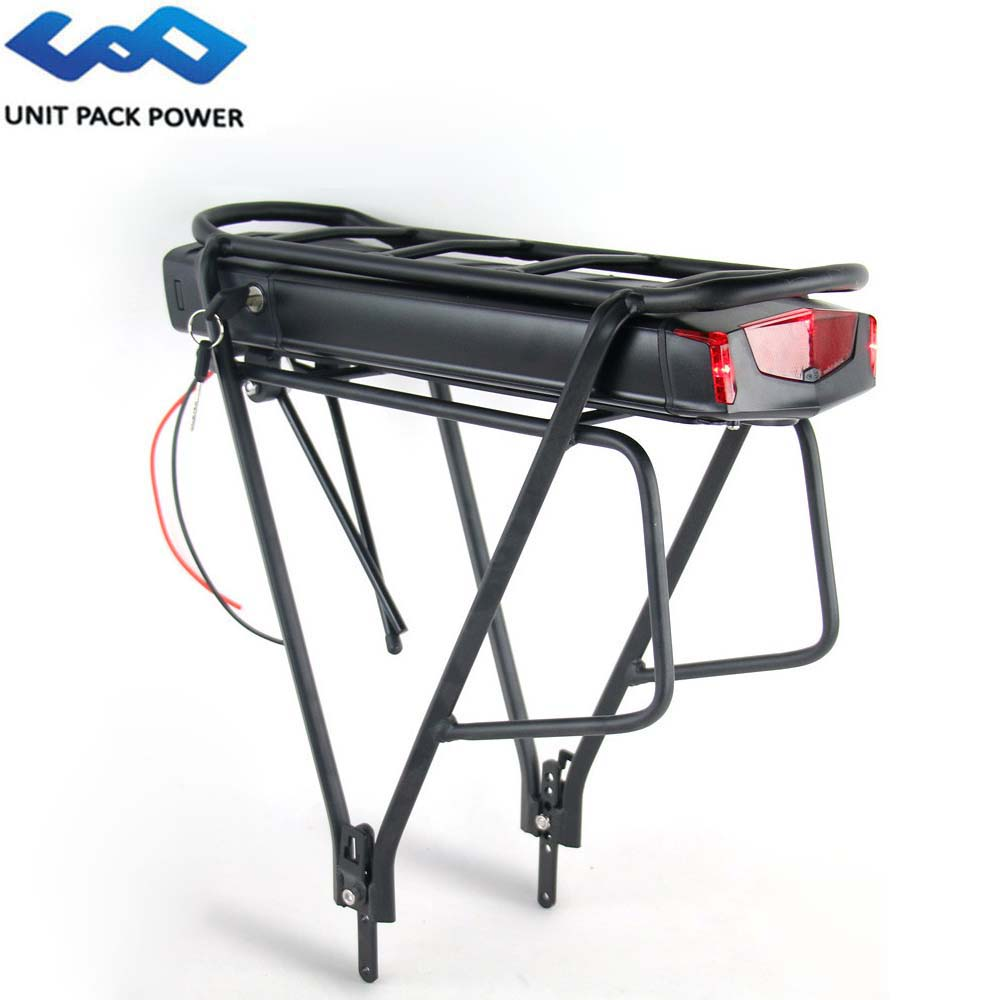 Electric Bicycle 36V 10Ah 13Ah 15Ah 18Ah Ebike Lithium Battery For Tsdz Bafang 250W 500W Kit With Double Layer Luggage Carrier