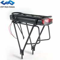 Vélo électrique 36V 10Ah 13Ah 15Ah 18Ah Ebike batterie au Lithium pour Tsdz Bafang 250W 500W Kit avec porte-bagages Double couche