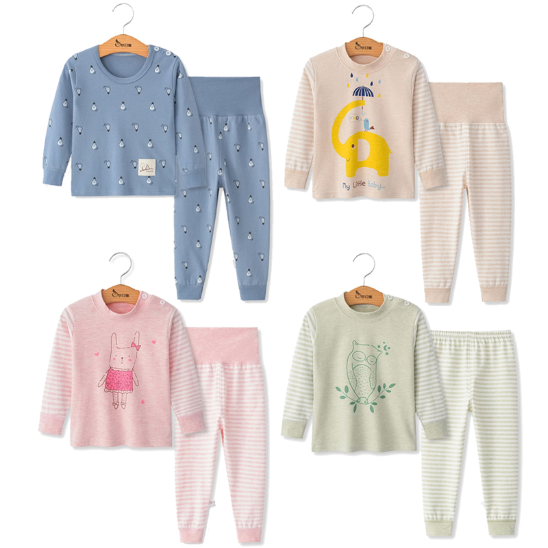 Kids   Pajamas   Boys Girls 100% Cotton Sleepwear Toddler Animal   Pajamas     Sets   Baby Girl Clothes Nightwear Pyjamas Kids Baby Pijamas