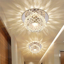 Crystal Colorful LED Ceiling Light Home Lamp Modern Living Room Bedroom Round(China)