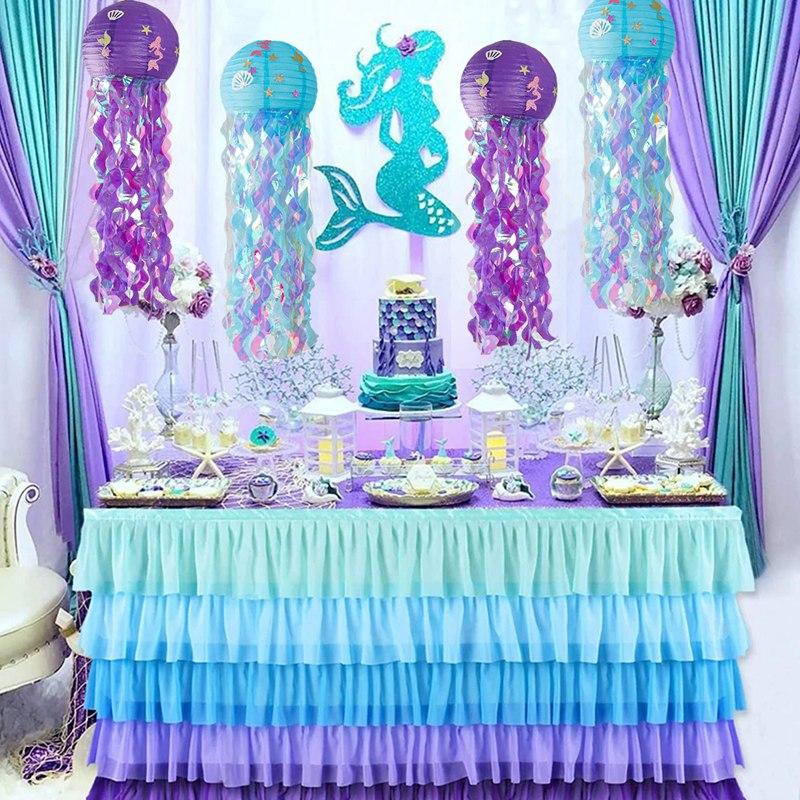 Украшения для дня рождения маленькая Русалочка Детские сувениры для дня рождения Русалочка праздничный декор для первого дня рождения дев...