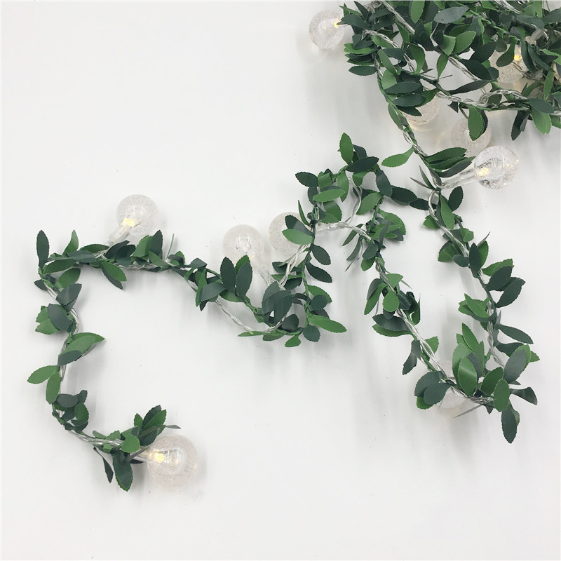 Ivy Leaf Ball Garland Fairy Lights 6M 3M Led Flexible String Lights Warm White Lighting For Wedding Party Xmas Garland Lighting