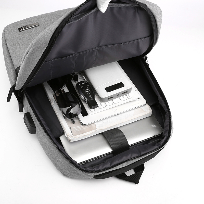Puimentiua Slim Laptop Backpack Men Office Work Men Backpack Business Bag Unisex Black Ultralight Backpack Thin Packbag in Backpacks from Luggage Bags