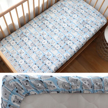 Crib Mattress-Cover Cot-Bedding Fitted-Sheet Baby Newborns Cotton for Kid with Elastic