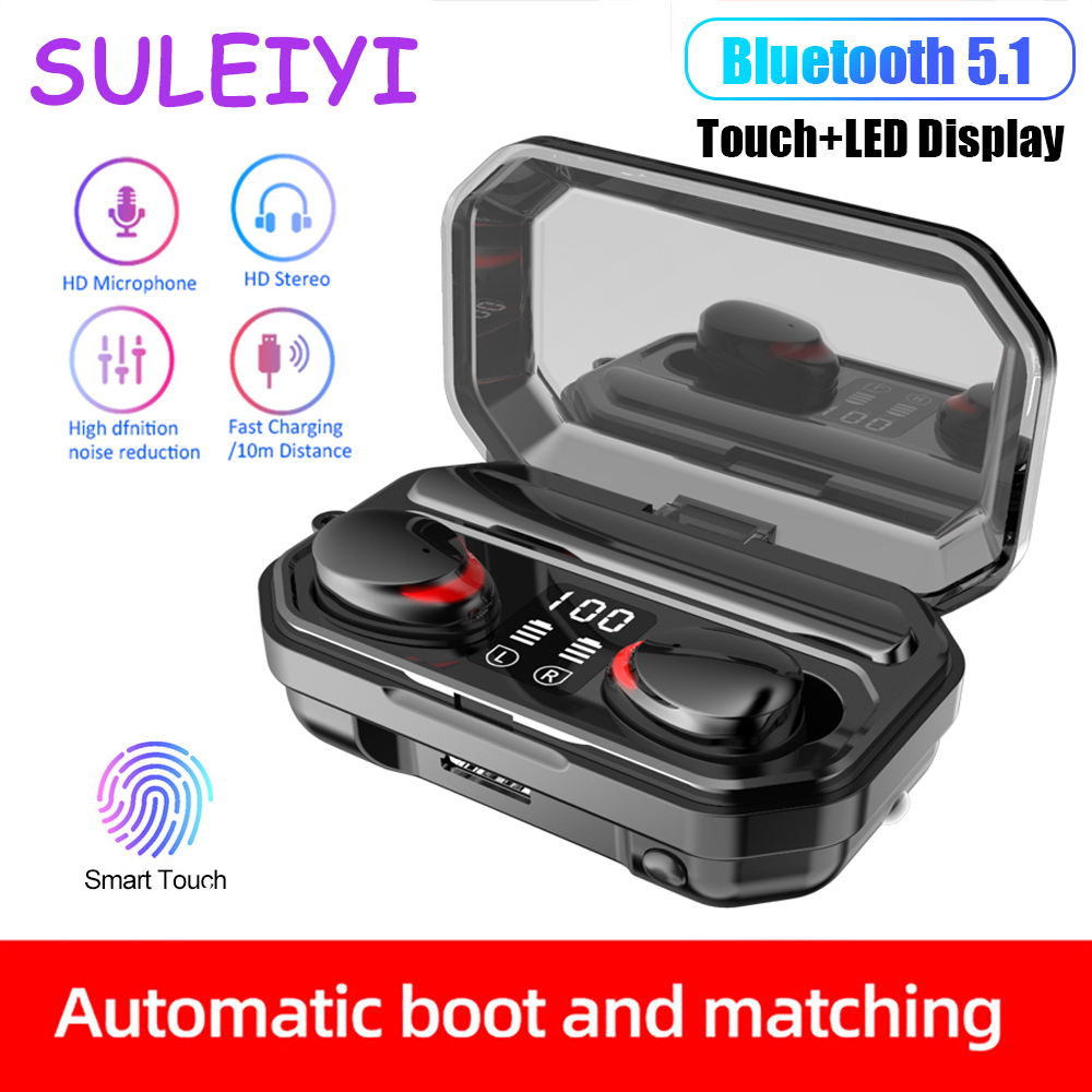 M15 TWS Bluetooth V5 1 Earphone Wireless Headphones Waterproof Sports Stereo Wireless Earphones Touch Bass Headset Mini Earbuds