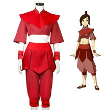 Avatar: The Last Airbender Ty lee Cosplay Costume Red Uniform Suit for Women Halloween Cosplay Outfits