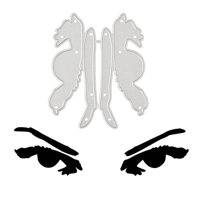 YaMinSanNiO Anger Eyes Metal Cutting Dies Eyebrow for Scrapbooking Stencils DIY Cards Decoration Embossing Die Cuts Template New 3