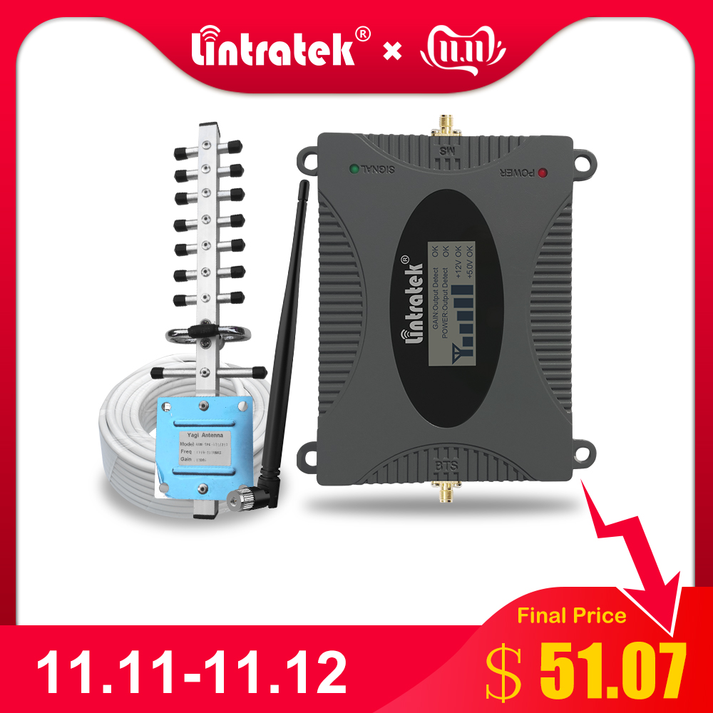 Lintratek 4G Signal Booster (Band 3) LTE 1800mhz Cell Phone 4G Amplifier Antenna GSM DCS 1800 Mobile Phone Repeater Full Set   .