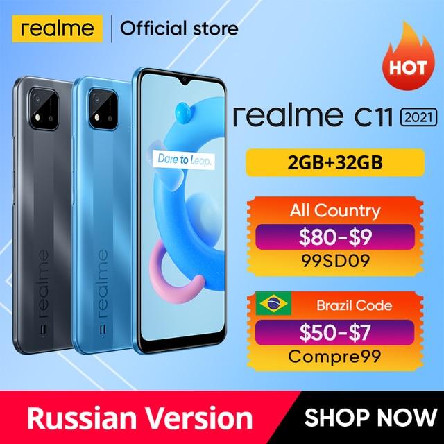 "realme C11 2021 Global Russian Version 2GB RAM 32GB ROM 6.5"" HD+ 5000mAh Long-Lasting Battery NFC 1"