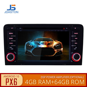 JDASTON PX6 2 Din Android 10 Car Multimedia Player GPS DVD For Audi A3 8P/A3 8P1 3-door Hatchback/S3 8P/RS3 Sportback Auto Radio image