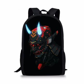 Customized cool ghost samurai teen backpack high quality school bag boy girl school bag travel bag laptop bag scoular anderson ghost docs at school