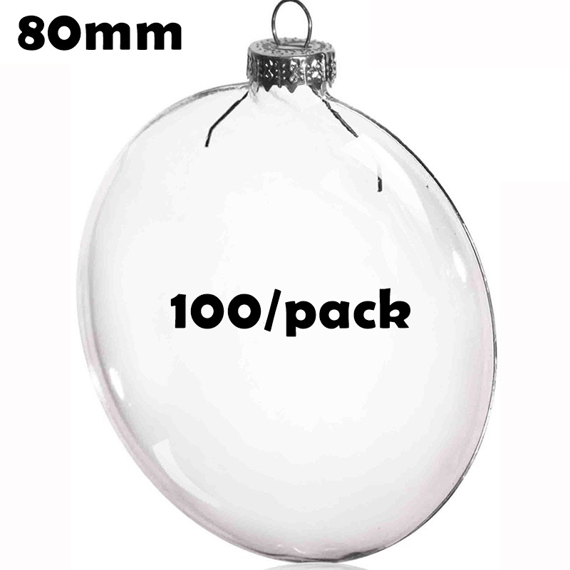 Free Shipping Diy Paintable Christmas Decoration Ball 80mm Glass Disc Paper Ornament 100 Pack Christmas Decorations Glass Disc Ornamentsdecorate Clear Christmas Ornaments Aliexpress