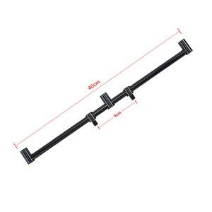 Image 3 - Hirisi new carp fishing rod pod set 2pcs fishing bank sticks with 1pcs fishing buzz bar black color