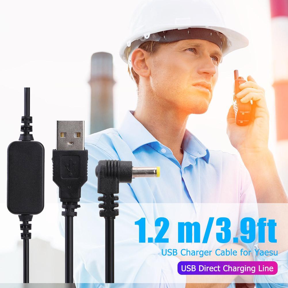 USB Charging Cable Charger Extension Cord for Yaesu VX-6R VX7R FT60R VX177  VX-710 HX-470 HX-471 VXA150 VXA-300 Radio