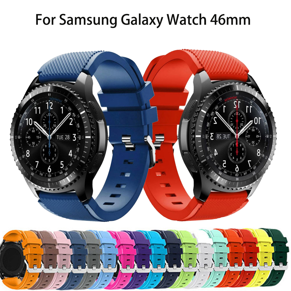 For Samsung Gear S3 Frontier Classic 22mm Silicone Wrist Band For Huawei Watch GT Sport Strap Replacement Watchbands Bracelet
