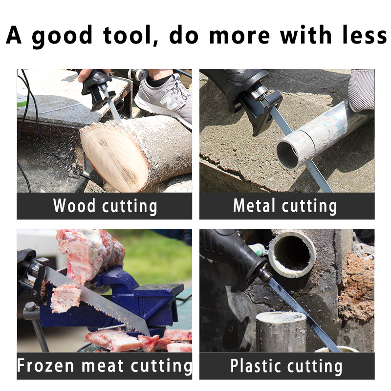 Image 5 - NEWONE Reciprocating saw handsaw saber saw multifunction saw 900W/1050W for metal wood meat bone pipe cutting saw with blade kit-in Electric Saws from Tools on