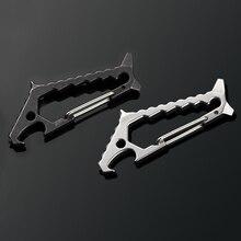 Многофункциональная быстроподвесная Пряжка EDC Shark для самозащиты на открытом воздухе, вольфрамовая стальная головка, разбитая оконная Пряжка, открывалка для ключей