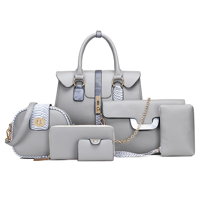 Women Bags Six Piece Set Fashion European and American Style One Shoulder Women's Bag Messenger Handbag