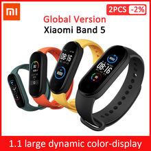 "Global Version Xiaomi Mi Band 5 Smart Bracelet 1.1"" AMOLED Colorful Screen Heart Rate Fitness Tracker Bluetooth 5.0 Waterproof"