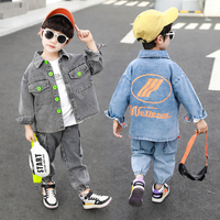 INS Baby boys suit 2 9 years old cotton Colorful button print letters two piece suit comfortable kids clothing boys clothing