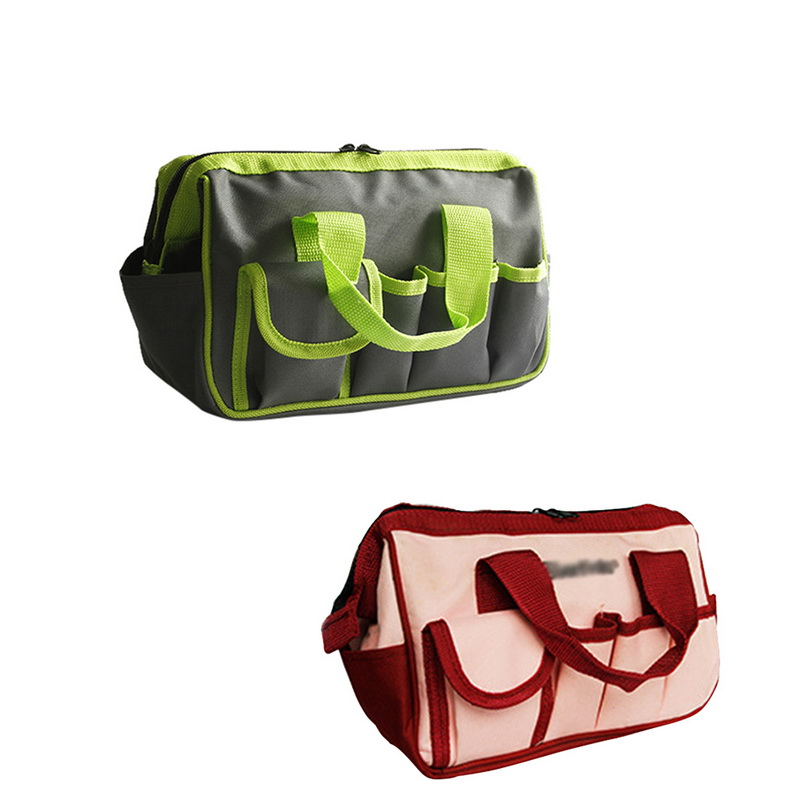 Urijk Multi-function Tool Kit Wear-Resistant Oxford Cloth Portable Garden Bag Electrical Service Tool Bag Household Tool Storage