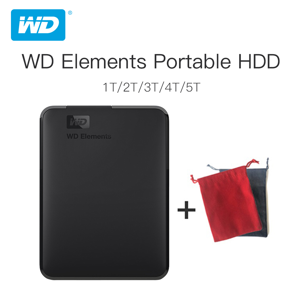 Western Digital WD Elements Portable External <font><b>hdd</b></font> <font><b>2.5</b></font> USB 3.0Hard Drive Disk 500GB 1TB <font><b>2TB</b></font> 3TB 4TB Original for PC laptop image